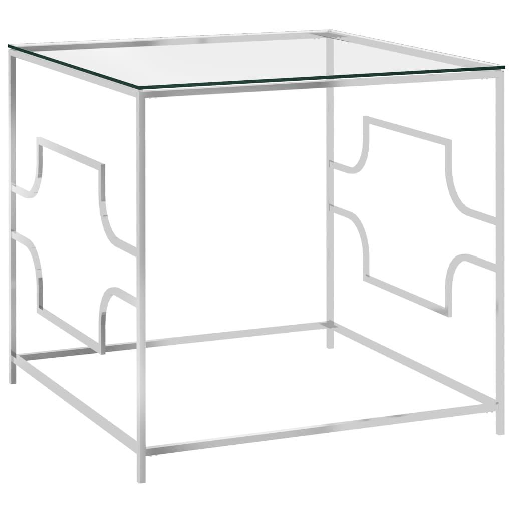 vidaXL Stolić za kavu 55 x 55 x 55 cm od nehrđajućeg čelika