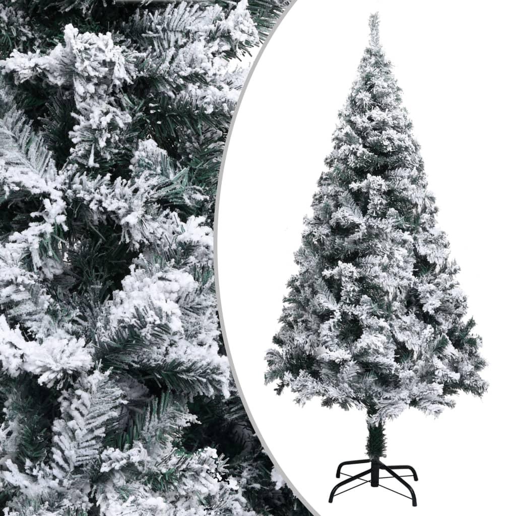 vidaXL Pom de Crăciun artificial cu zăpadă, verde, 150 cm, PVC poza vidaxl.ro