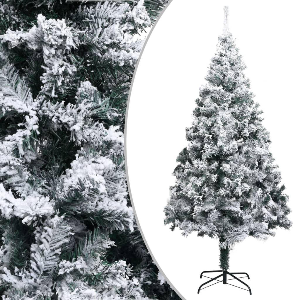 vidaXL Pom de Crăciun artificial cu zăpadă, verde, 210 cm, PVC imagine vidaxl.ro