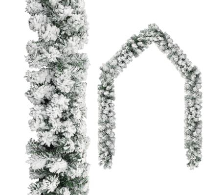 vidaXL Christmas Garland with Flocked Snow Green 20 m PVC