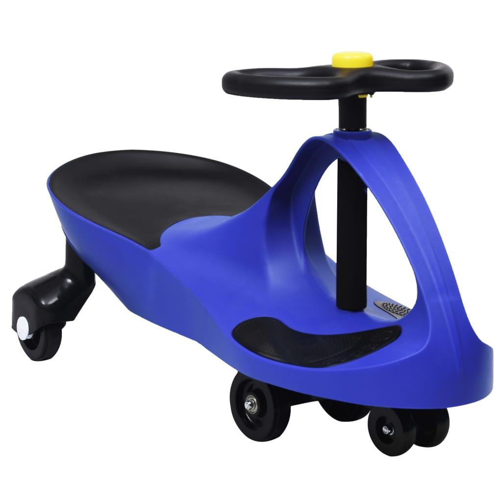 vidaXL Mașinuță tip balansoar fără pedale cu claxon, albastru vidaxl.ro