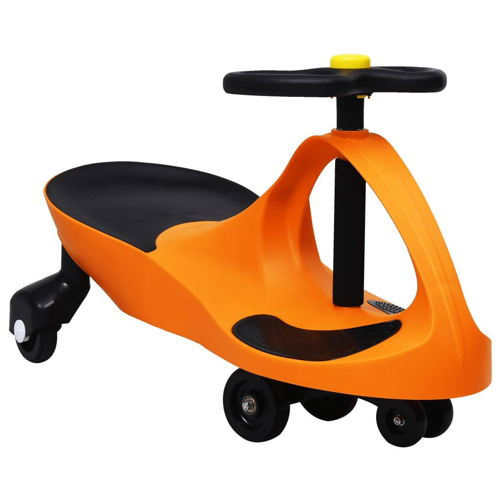 vidaXL Mașinuță de jucărie fără pedale cu claxon, portocaliu imagine vidaxl.ro