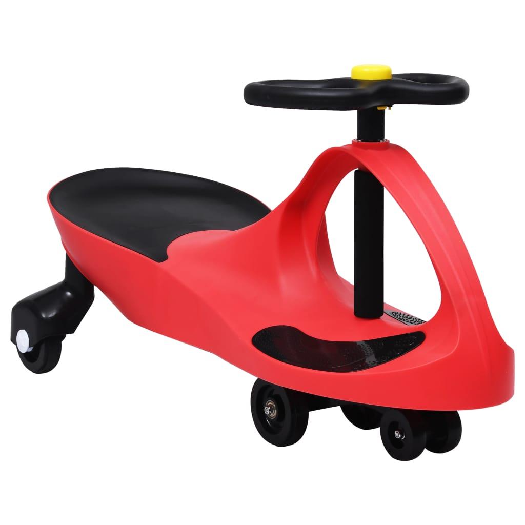 Dětské vozítko a odrážedlo SwingCar s klaksonem červené