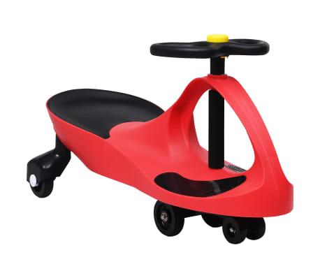 vidaXL pealeistutav vingerdav ja kiikuv auto, autopasunaga, punane