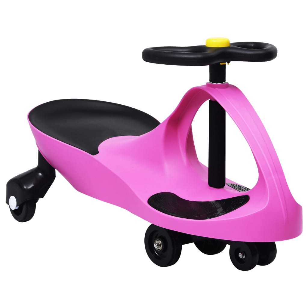 vidaXL Mașinuță de jucărie fără pedale cu claxon, roz imagine vidaxl.ro