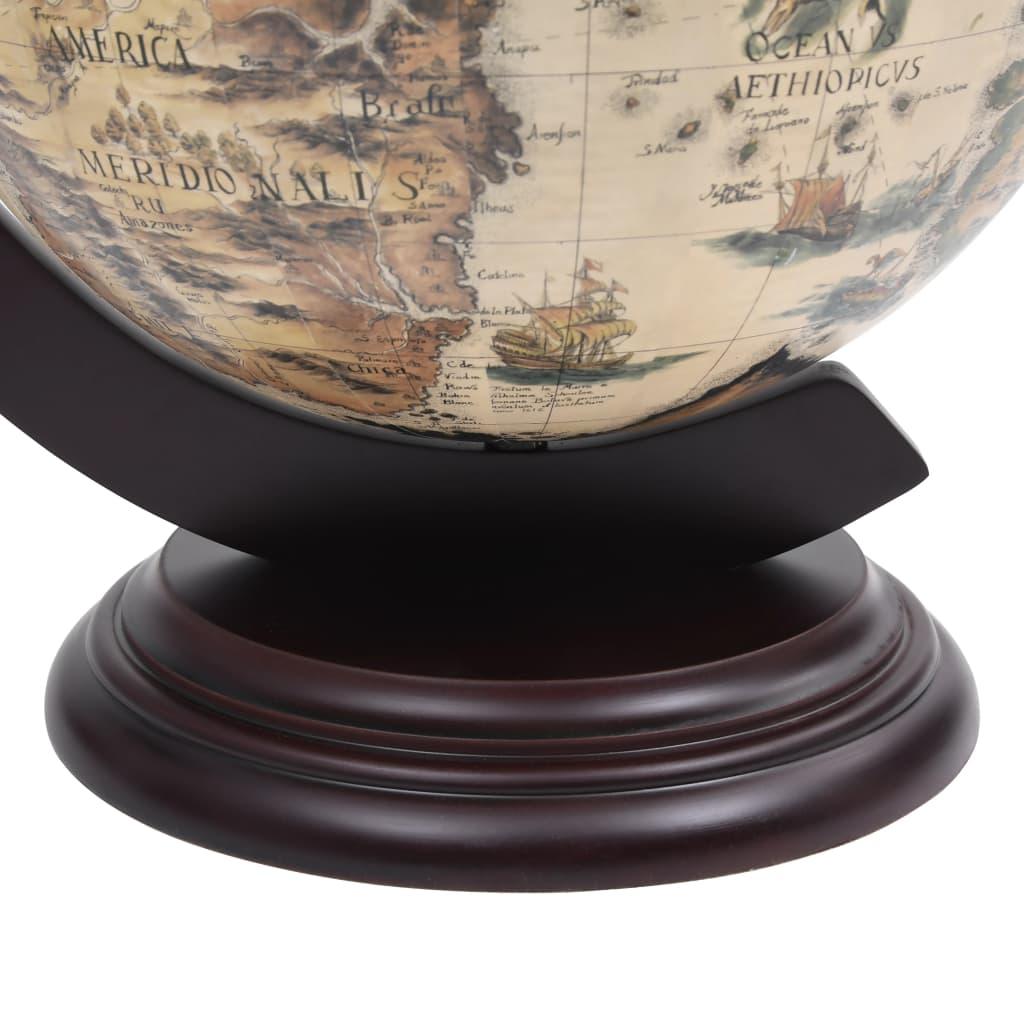 Globebar tafelmodel eucalyptushout wit