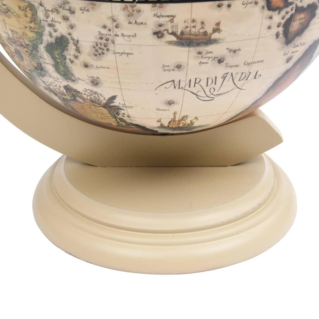vidaXL Globebar tafelmodel eucalyptushout wit