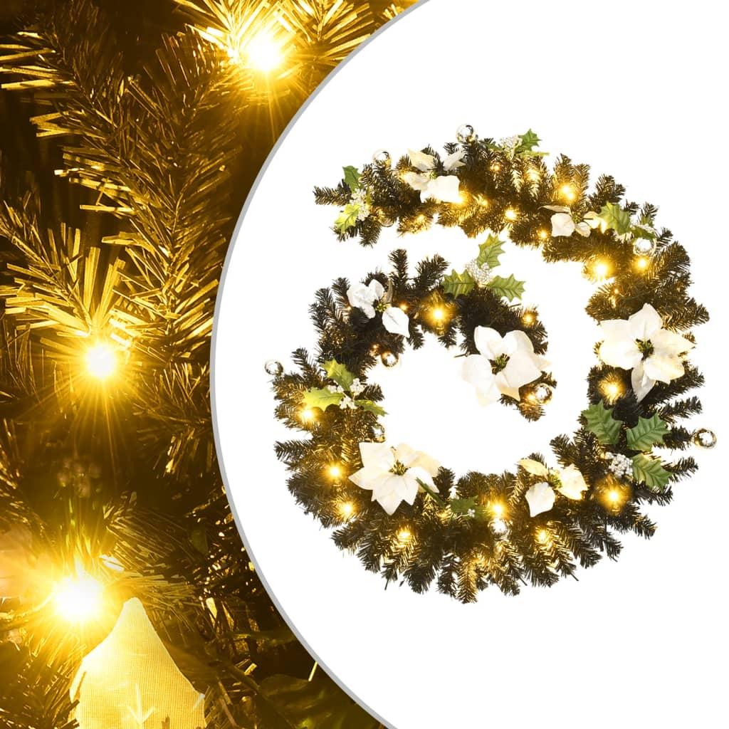 vidaXL Ghirlandă de Crăciun cu becuri LED, negru, 2,7 m, PVC vidaxl.ro