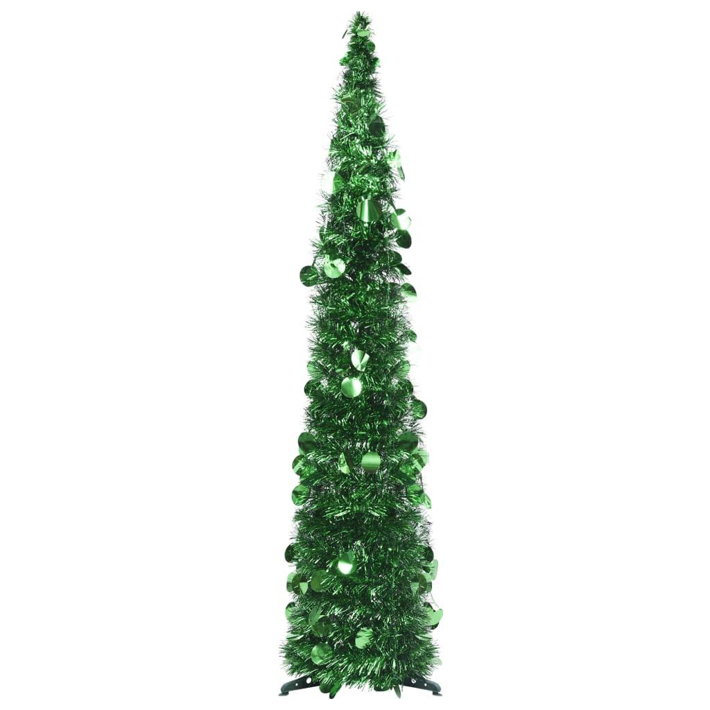 Rozkládací umělý vánoční stromek zelený 120 cm PET