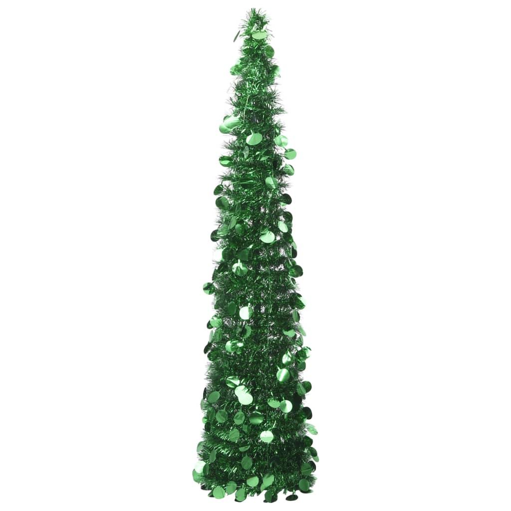 Skládací umělý vánoční stromek zelený 150 cm PET