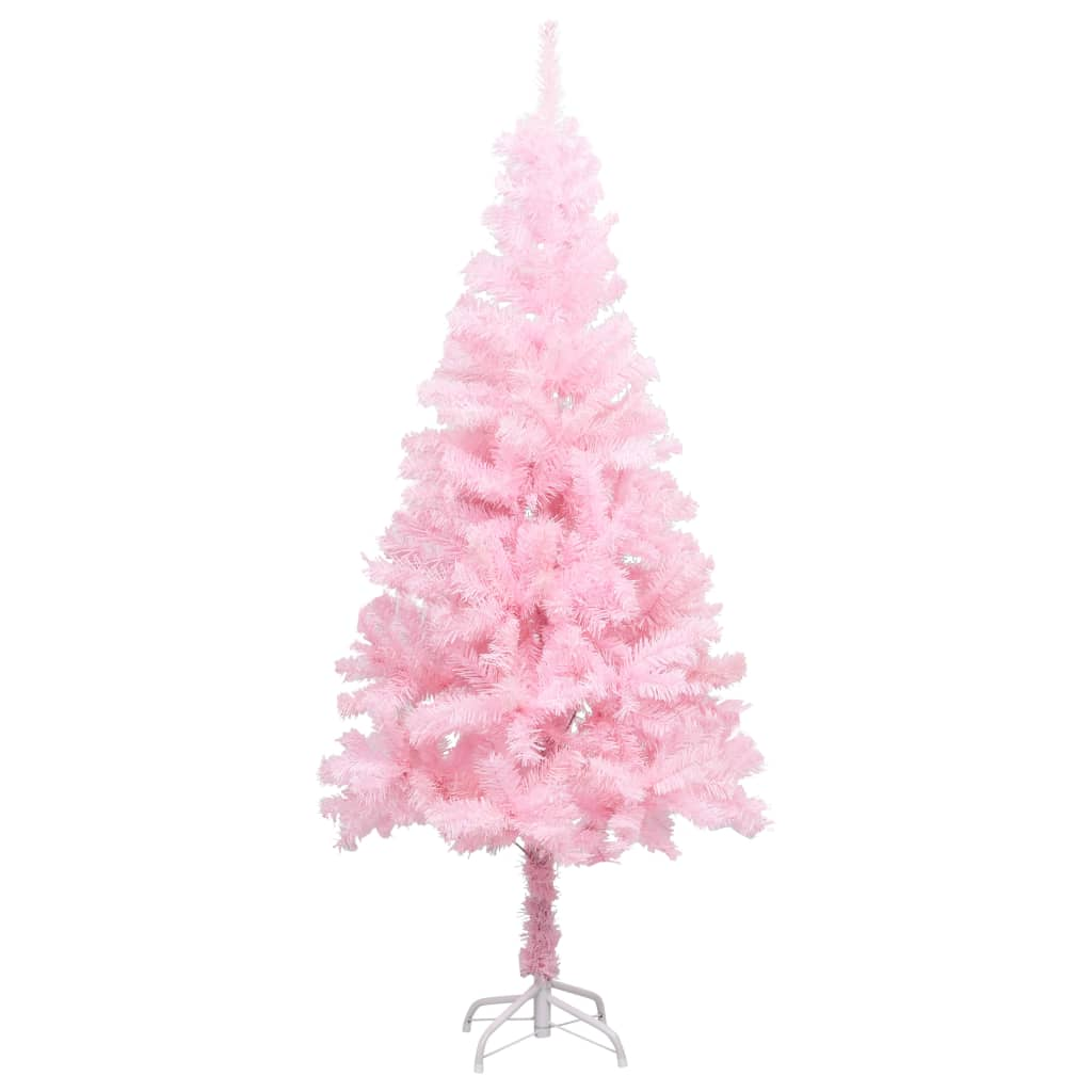 vidaXL Pom de Crăciun artificial cu suport, roz, 150 cm, PVC vidaxl.ro
