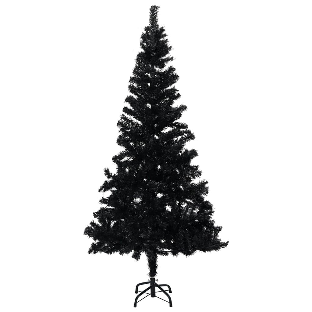 Umělý vánoční stromek se stojanem černý 150 cm PVC