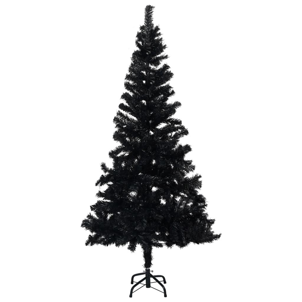 Umělý vánoční stromek se stojanem černý 180 cm PVC