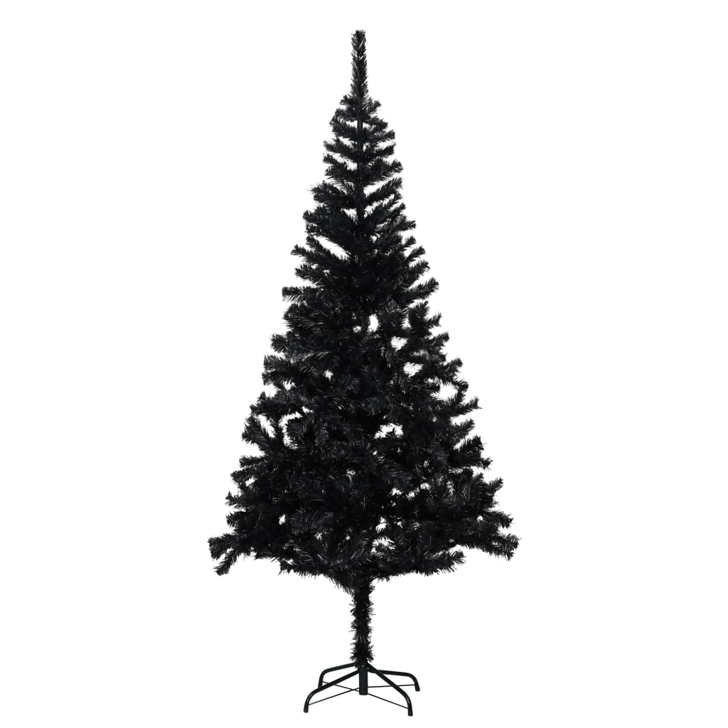 vidaXL Kunstkerstboom met standaard 213 cm PVC zwart