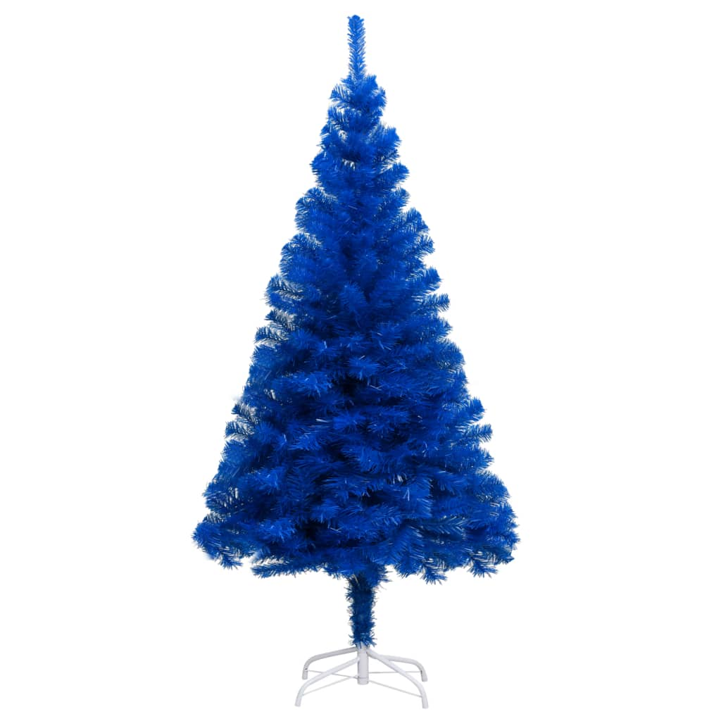 vidaXL Pom de Crăciun artificial cu suport, albastru, 150 cm, PVC vidaxl.ro