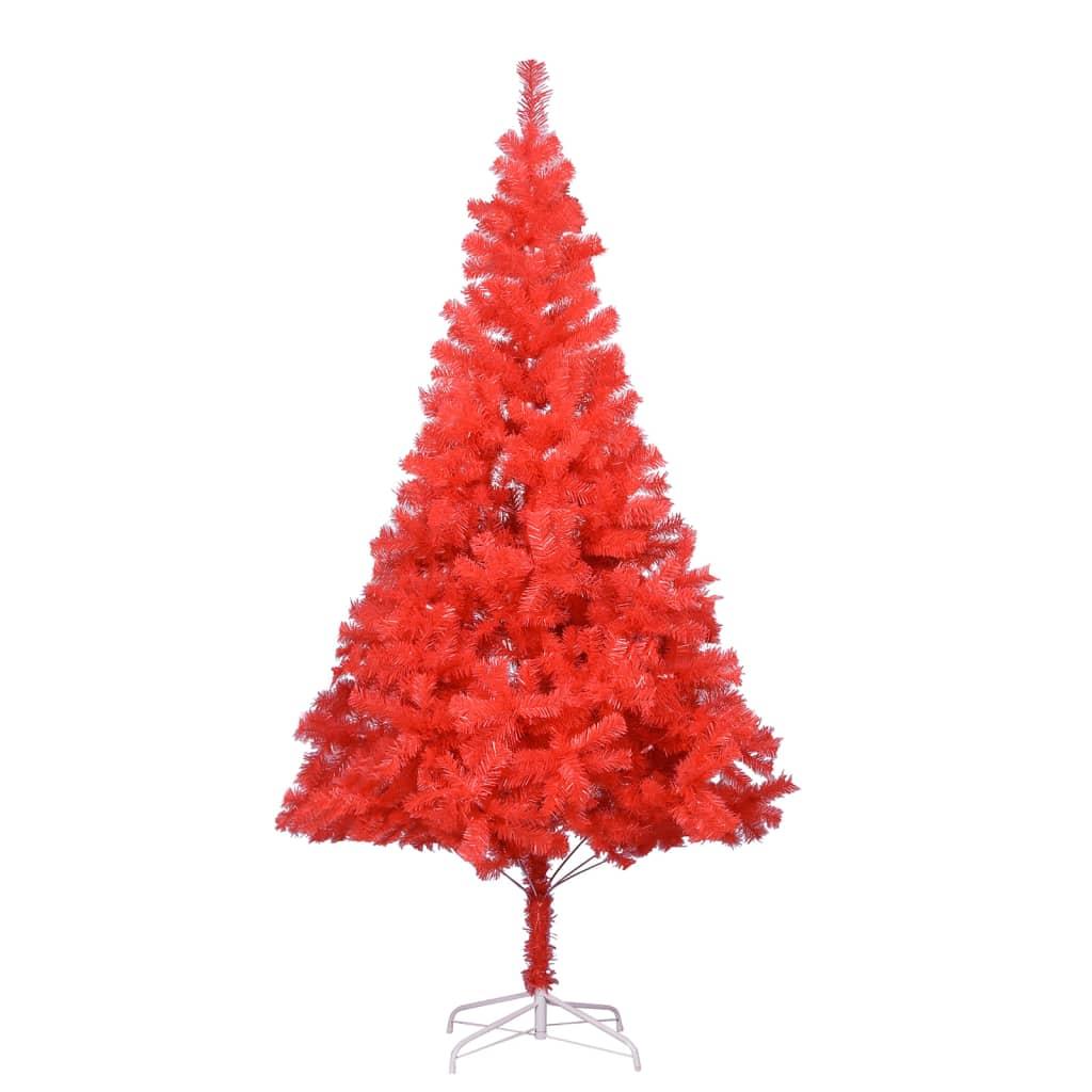 Umělý vánoční stromek se stojanem červený 180 cm PVC