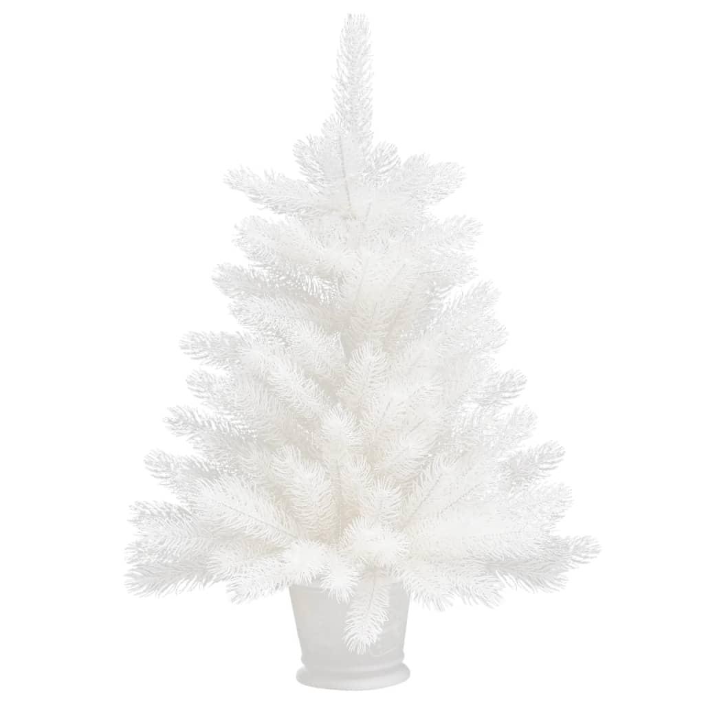 vidaXL Kunstkerstboom met levensechte naalden 65 cm wit