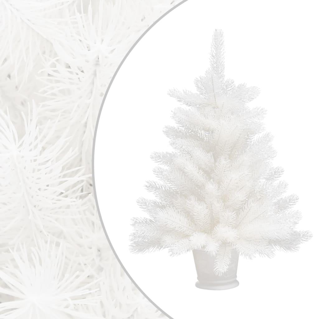 Umělý vánoční stromek s realistickým jehličím bílý 65 cm