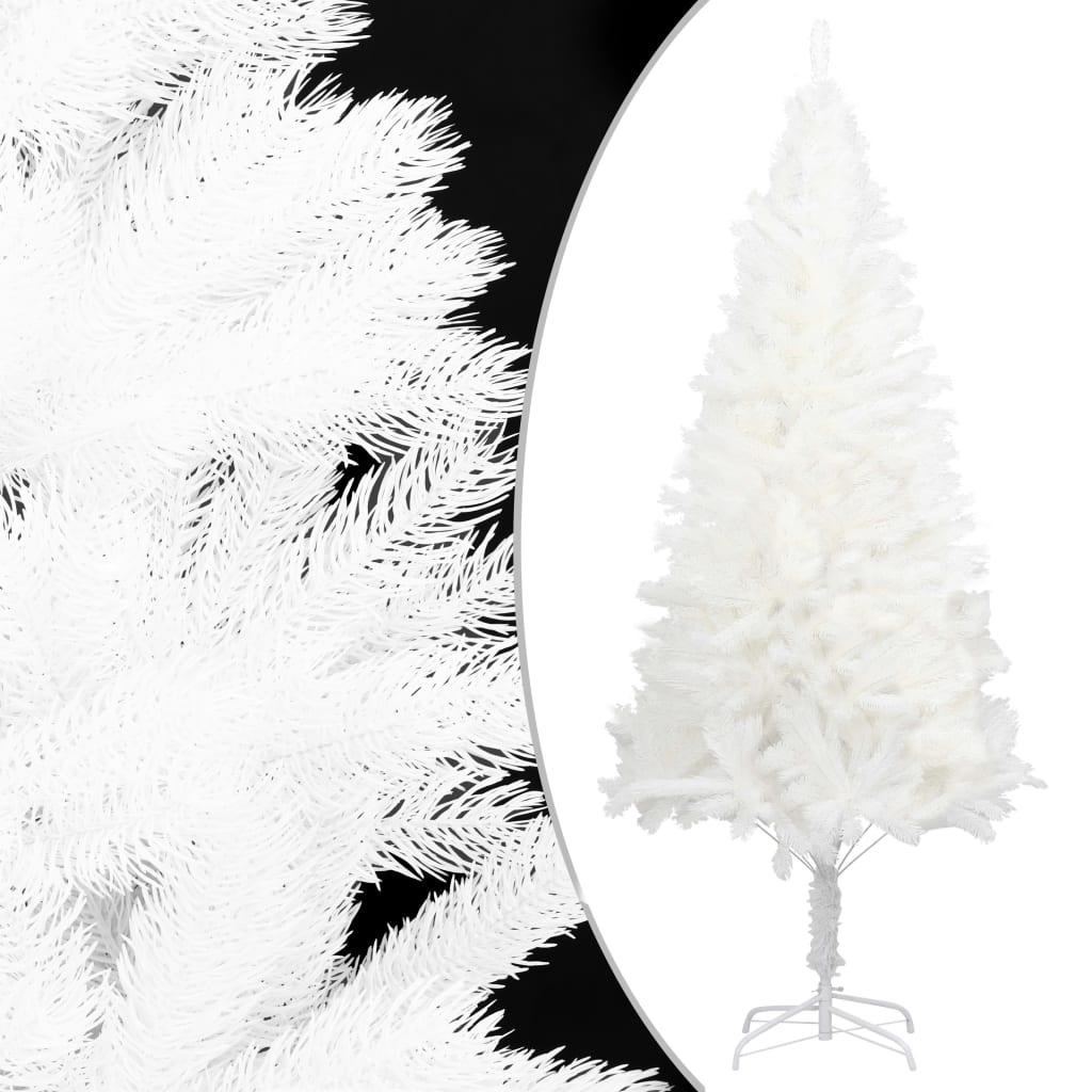 vidaXL Pom de Crăciun artificial, ace cu aspect natural, alb, 150 cm vidaxl.ro