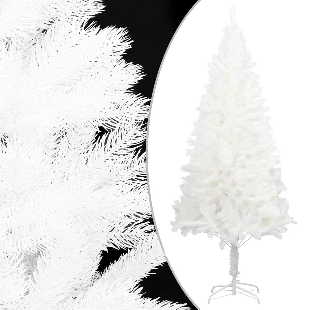 vidaXL Pom de Crăciun artificial, ace cu aspect natural, alb, 180 cm imagine vidaxl.ro