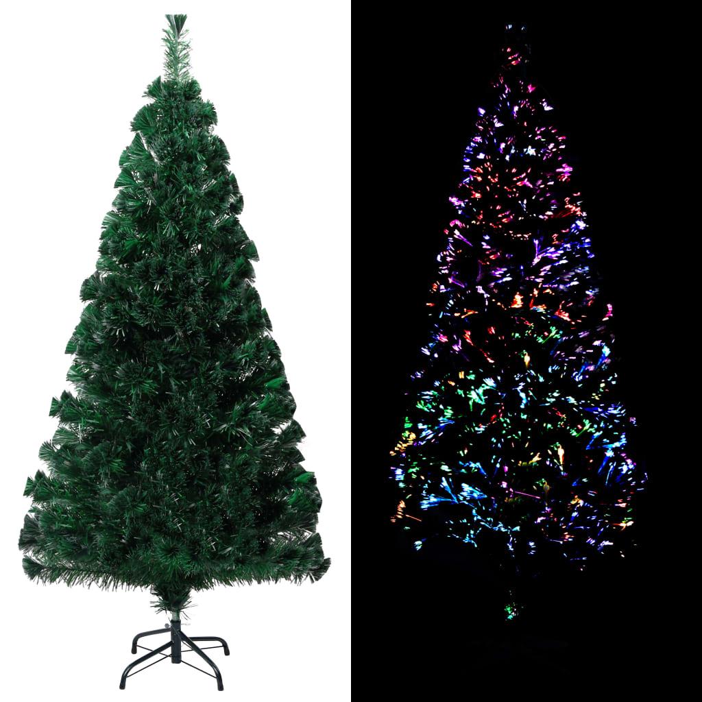 vidaXL Pom de Crăciun artificial cu suport, verde, 120cm, fibră optică imagine vidaxl.ro