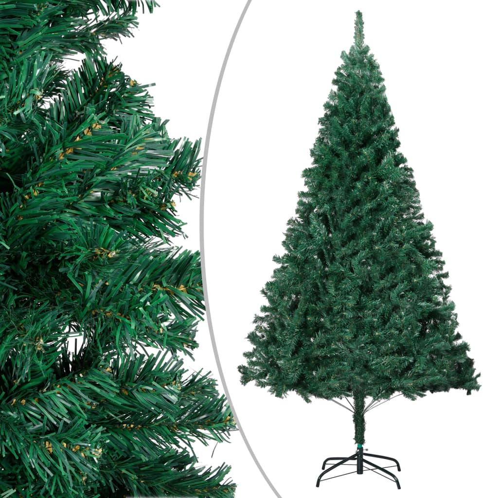 vidaXL Sztuczna choinka o grubych gałązkach, zielona, 210 cm, PVC