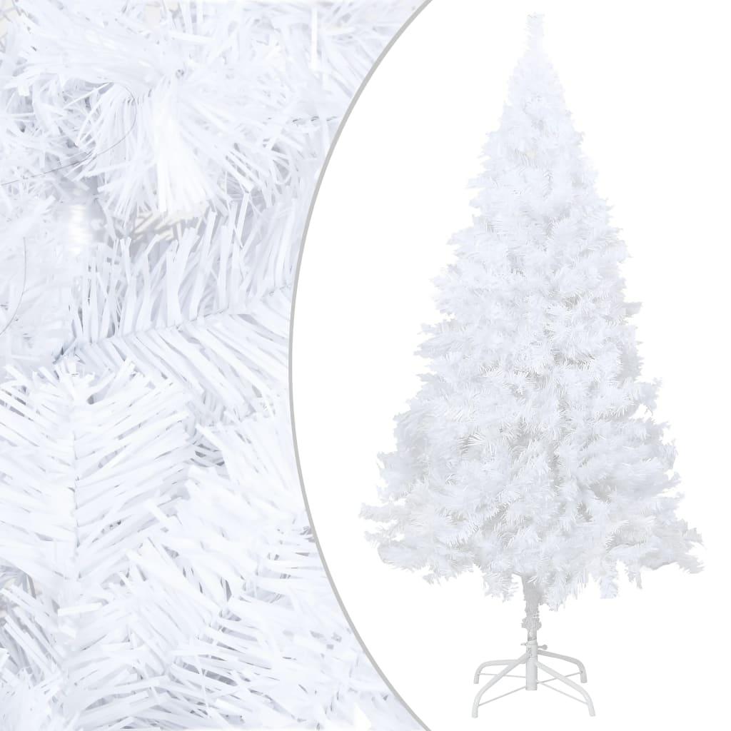 vidaXL Pom de Crăciun artificial cu ramuri groase, alb, 150 cm, PVC poza 2021 vidaXL