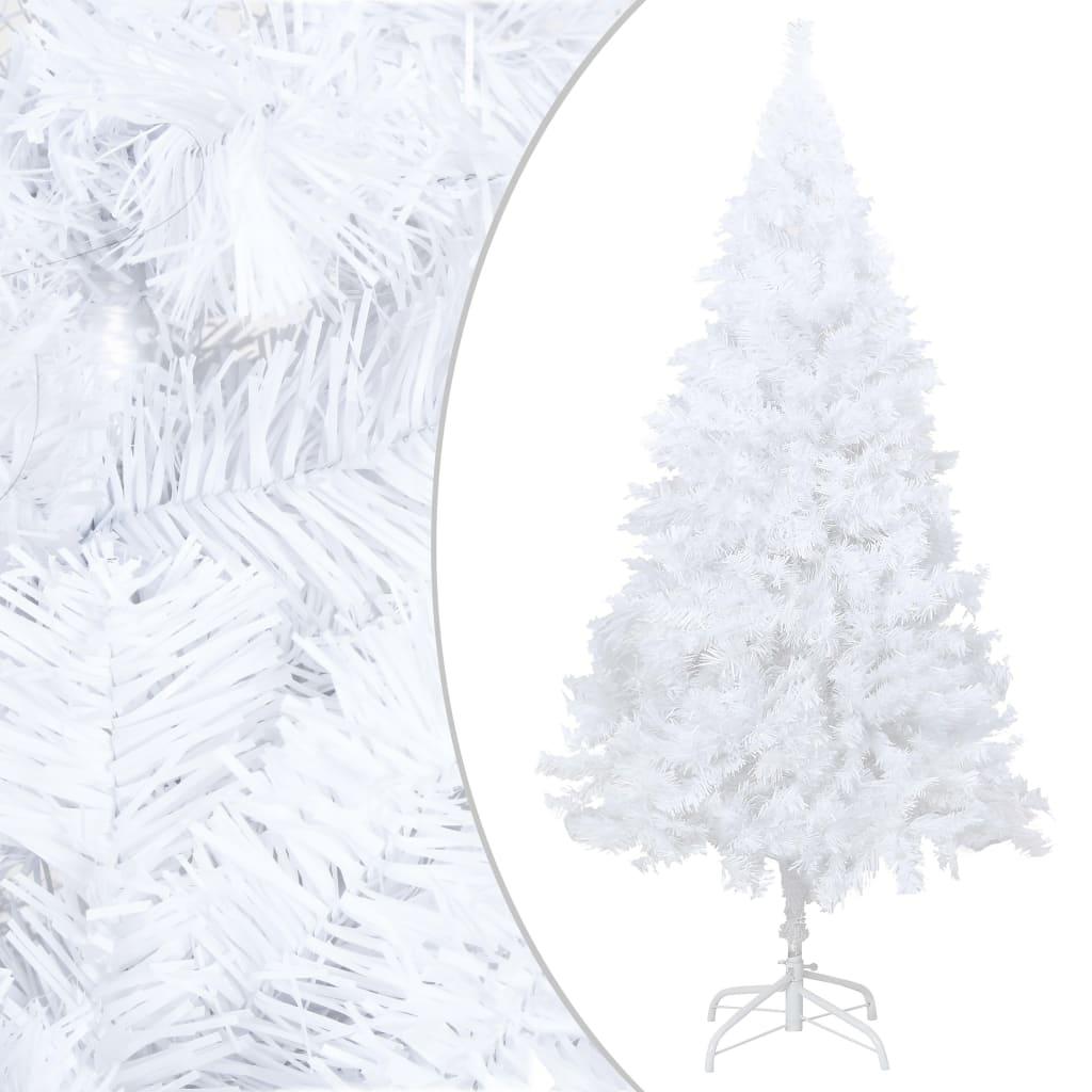 vidaXL Pom de Crăciun artificial cu ramuri groase, alb, 210 cm, PVC vidaxl.ro