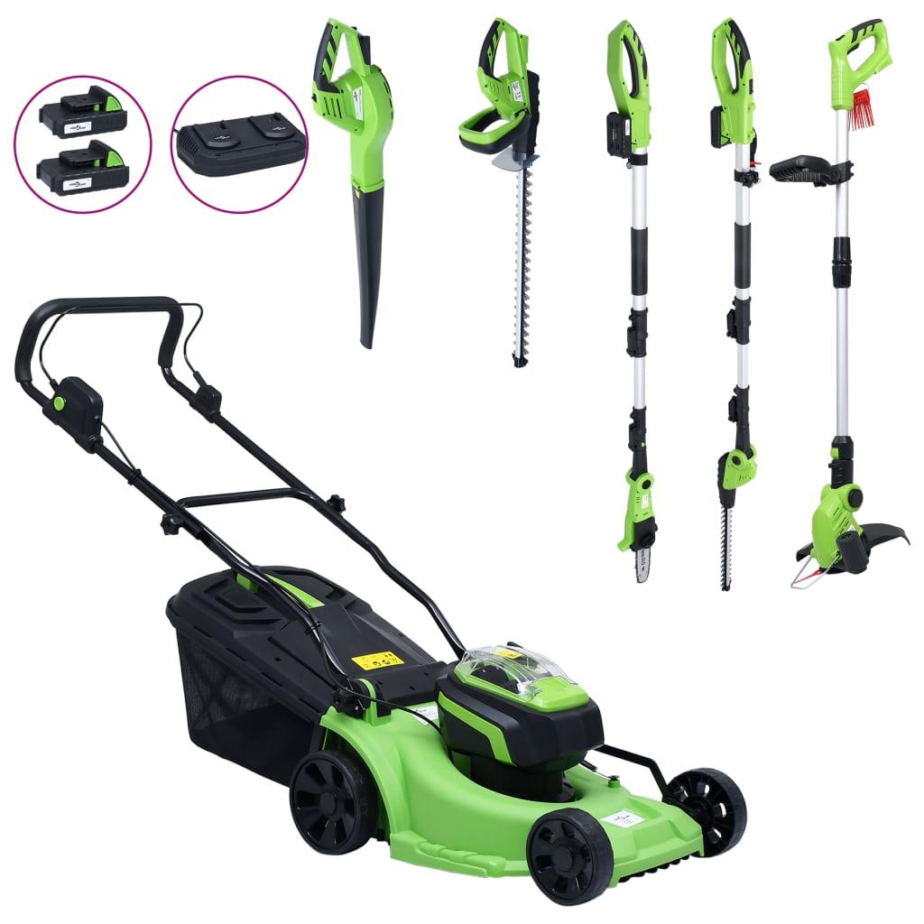 vidaXL Mașină de tuns iarbă fără fir cu set de unelte electrice imagine vidaxl.ro