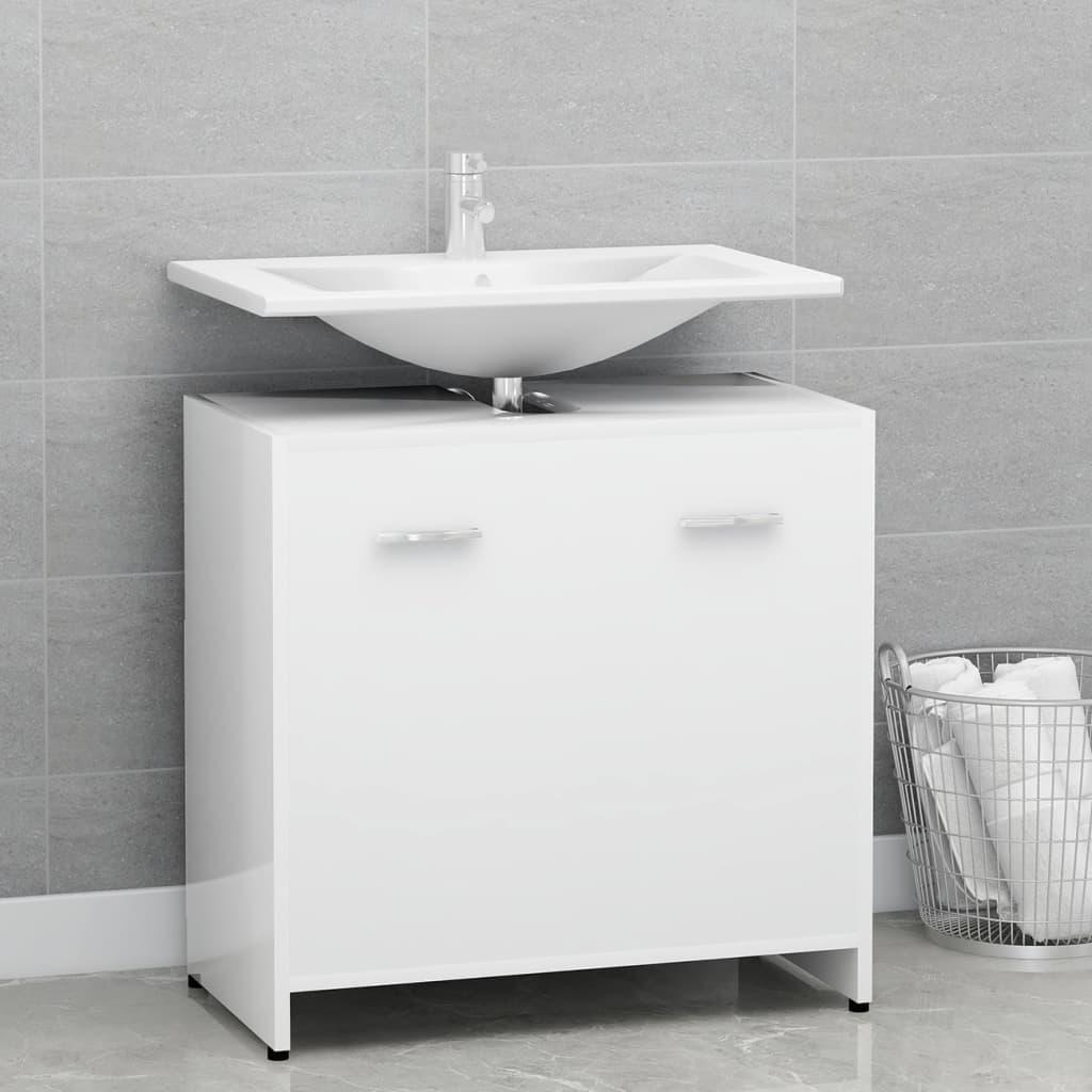 Koupelnová skříňka bílá 60 x 33 x 58 cm dřevotříska