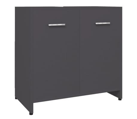 vidaXL Bathroom Cabinet Grey 60x33x58 cm Chipboard