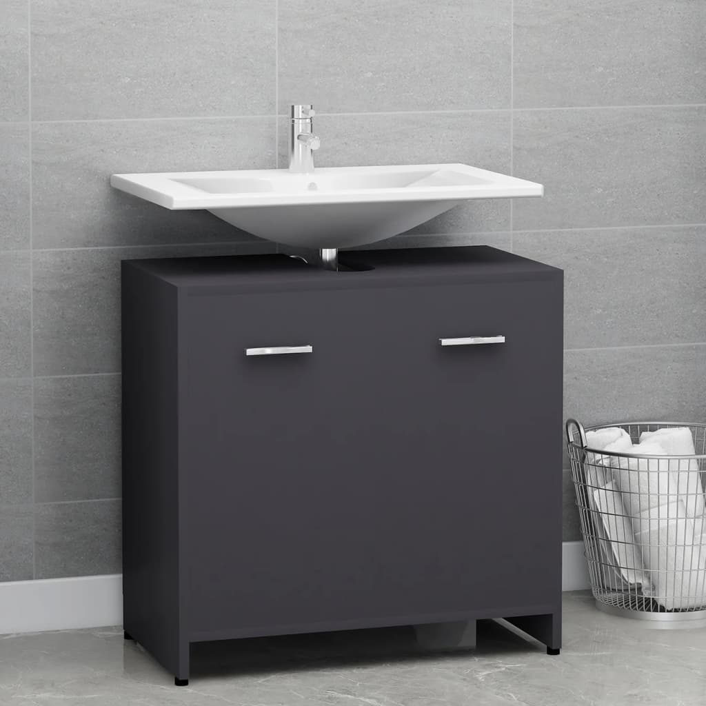 Koupelnová skříňka šedá 60 x 33 x 58 cm dřevotříska