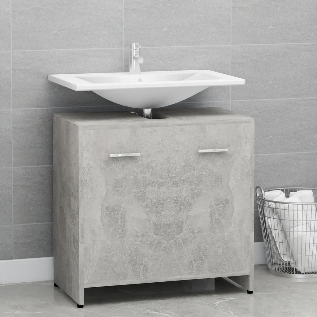 Koupelnová skříňka betonově šedá 60 x 33 x 58 cm dřevotříska