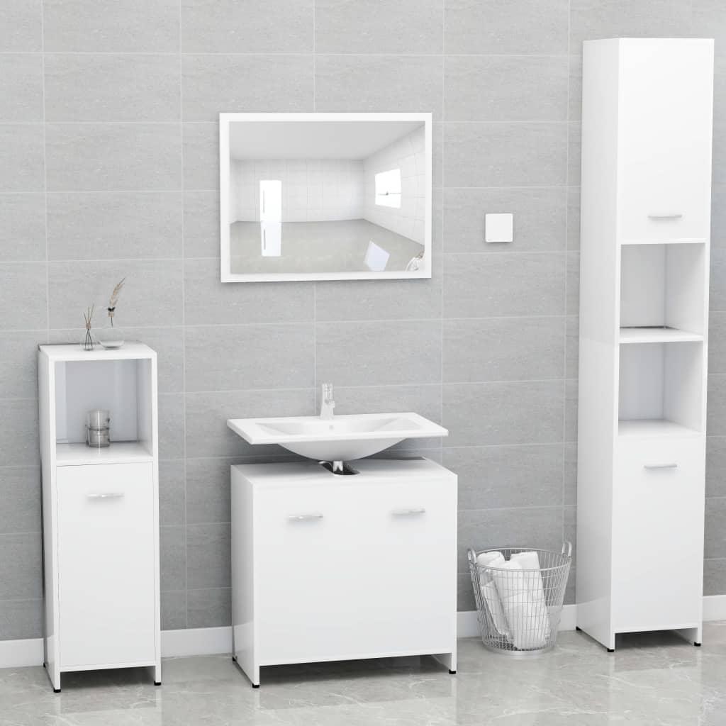 vidaXL Set mobilier de baie, alb, PAL vidaxl.ro