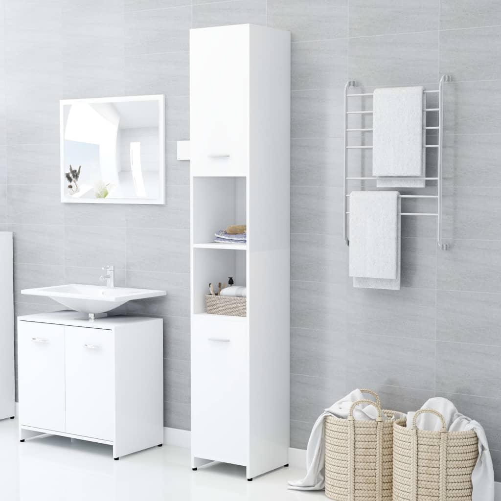 vidaXL Dulap de baie, alb, 30 x 30 x 183,5 cm, PAL