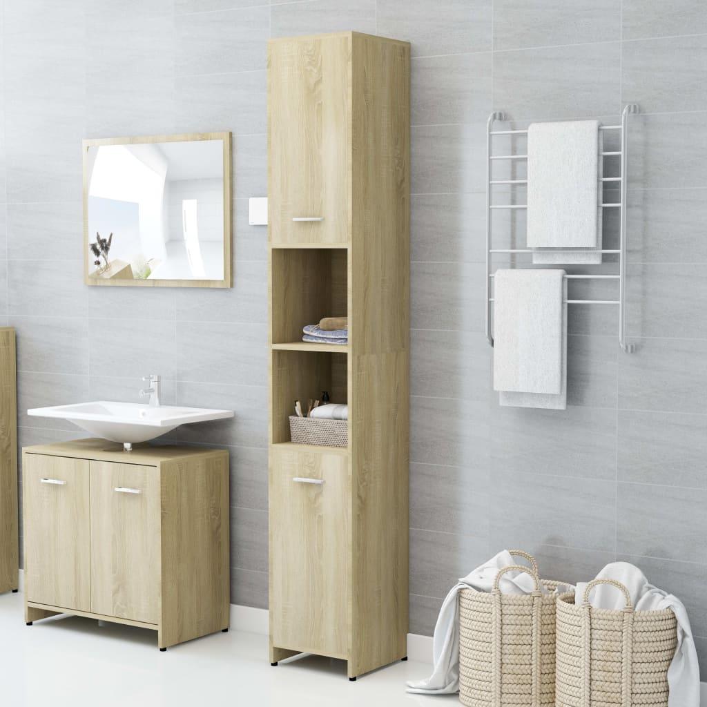 Koupelnová skříňka dub sonoma 30 x 30 x 183,5 cm dřevotříska