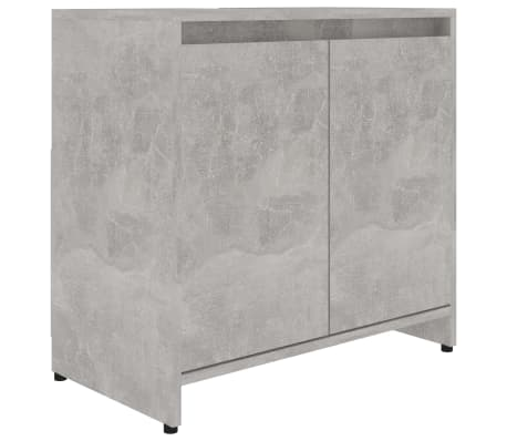 vidaXL Bathroom Cabinet Concrete Grey 60x33x58 cm Chipboard