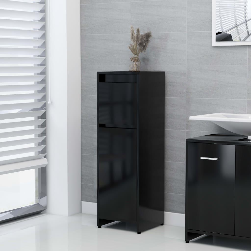 vidaXL Dulap de baie, negru, 30 x 30 x 95 cm, PAL vidaxl.ro