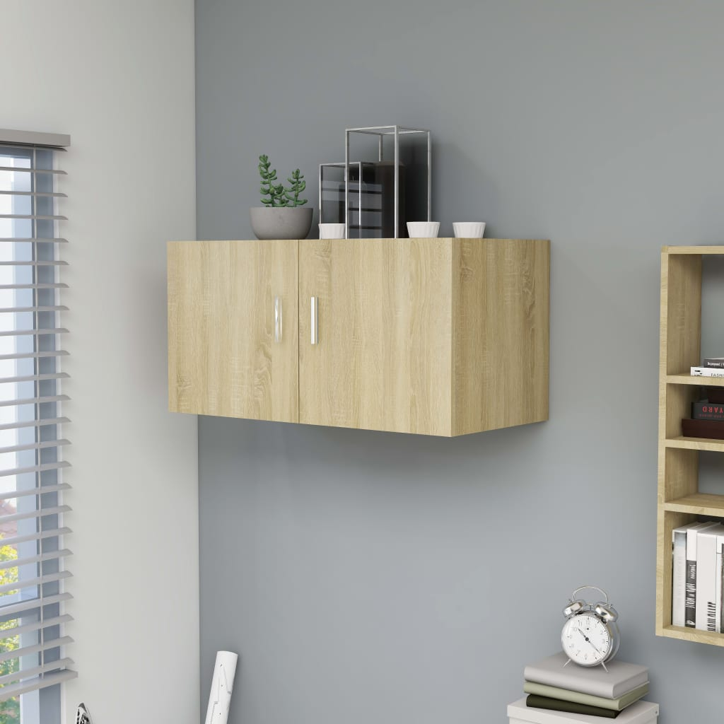 vidaXL Dulap montat pe perete, stejar Sonoma, 80 x 39 x 40 cm, PAL vidaxl.ro