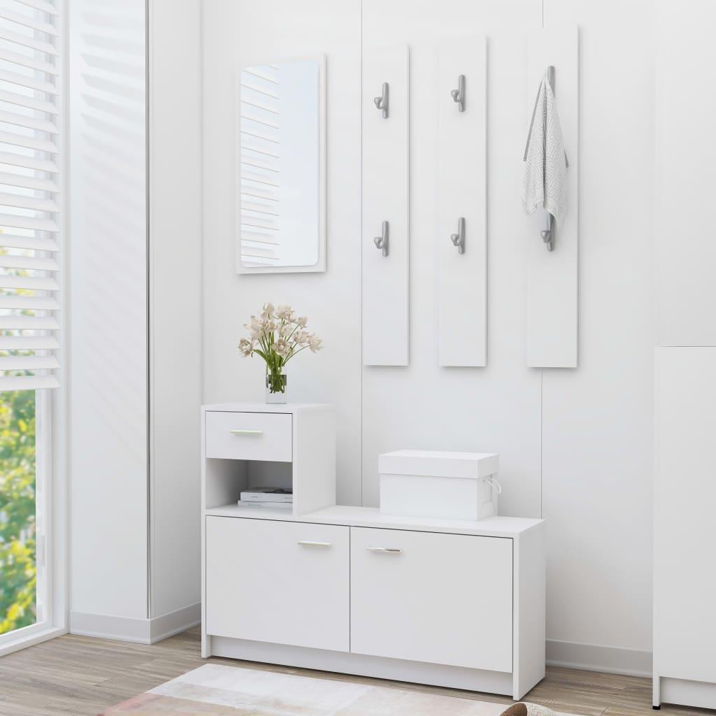 vidaXL Mobilă pentru hol, alb, 100 x 25 x 76,5 cm, PAL vidaxl.ro