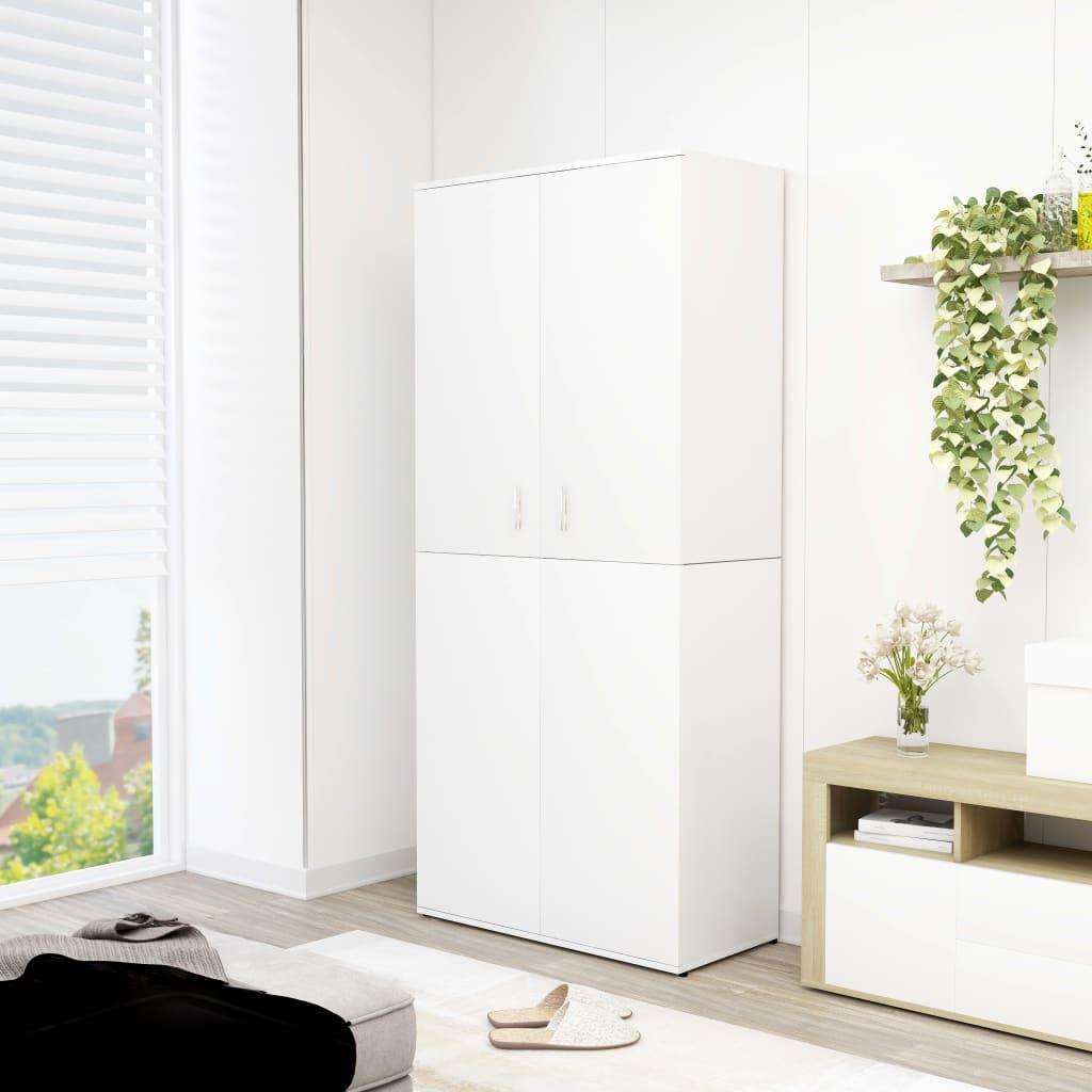 vidaXL Pantofar, alb, 80 x 39 x 178 cm, PAL vidaxl.ro