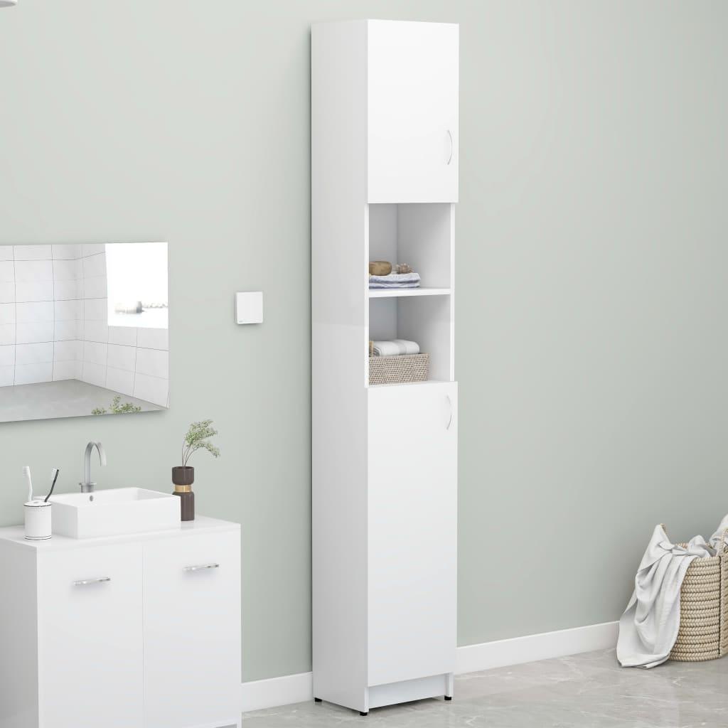 Koupelnová skříňka bílá 32 x 25,5 x 190 cm dřevotříska