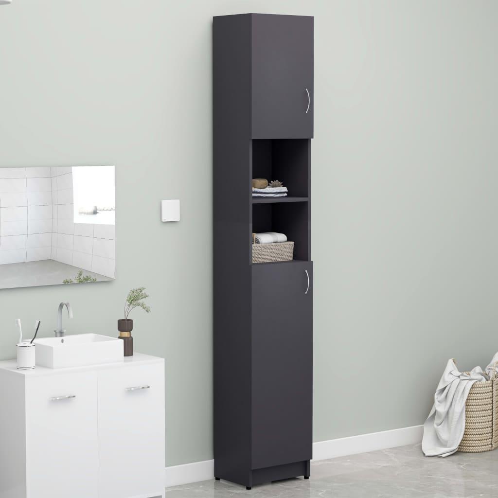Koupelnová skříňka šedá 32 x 25,5 x 190 cm dřevotříska