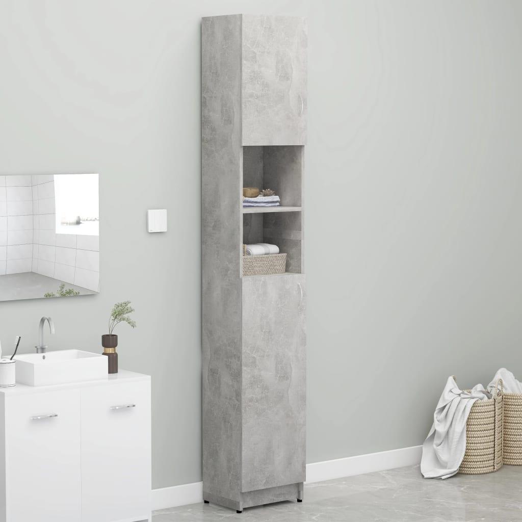 Koupelnová skříňka betonově šedá 32 x 25,5 x 190 cm dřevotříska