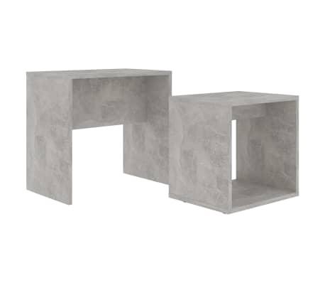 vidaXL Ensemble de tables basses Gris béton 48x30x45 cm Aggloméré