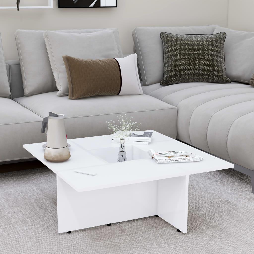 Konferenční stolek bílý 79,5 x 79,5 x 30 cm dřevotříska