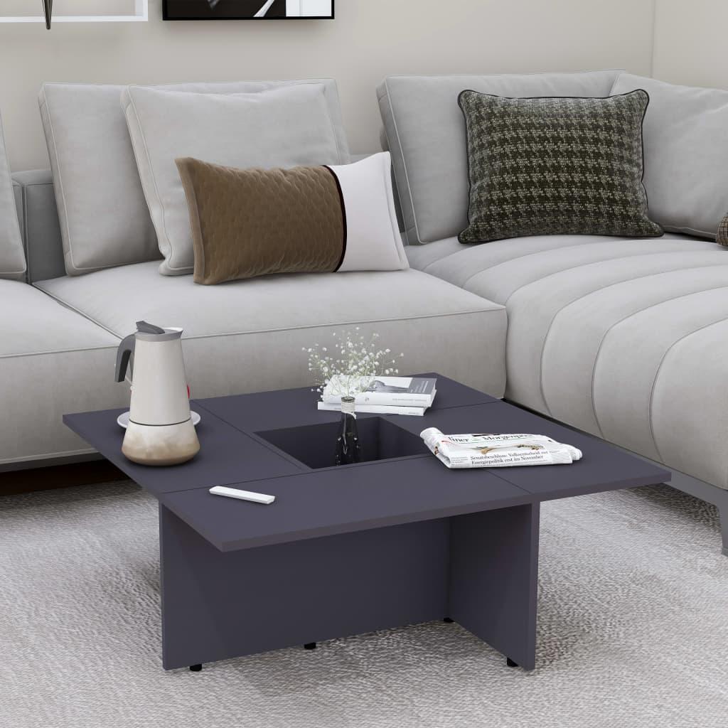 Konferenční stolek šedý 79,5 x 79,5 x 30 cm dřevotříska