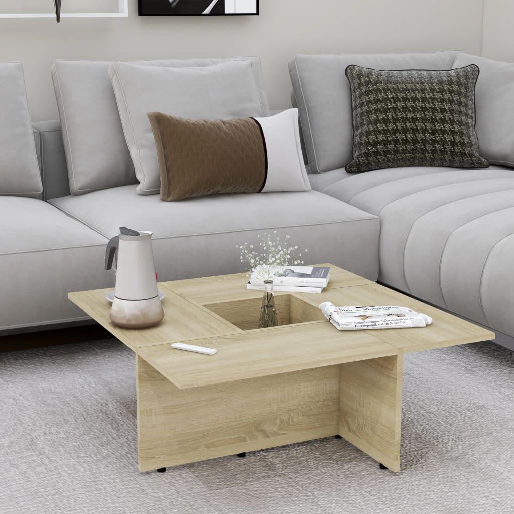 Konferenční stolek dub sonoma 79,5 x 79,5 x 30 cm dřevotříska
