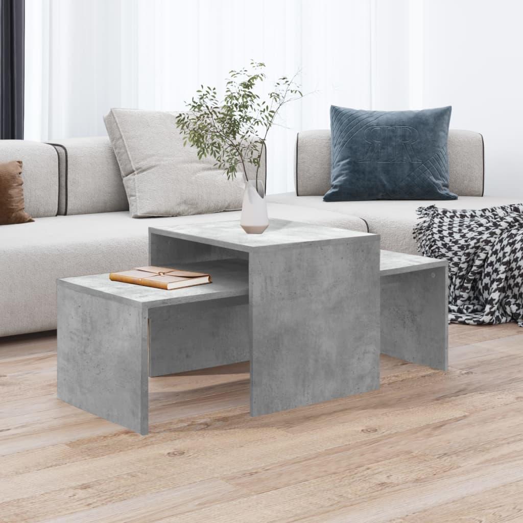 vidaXL Set stolića za kavu siva boja betona 100 x 48 x 40 cm iverica