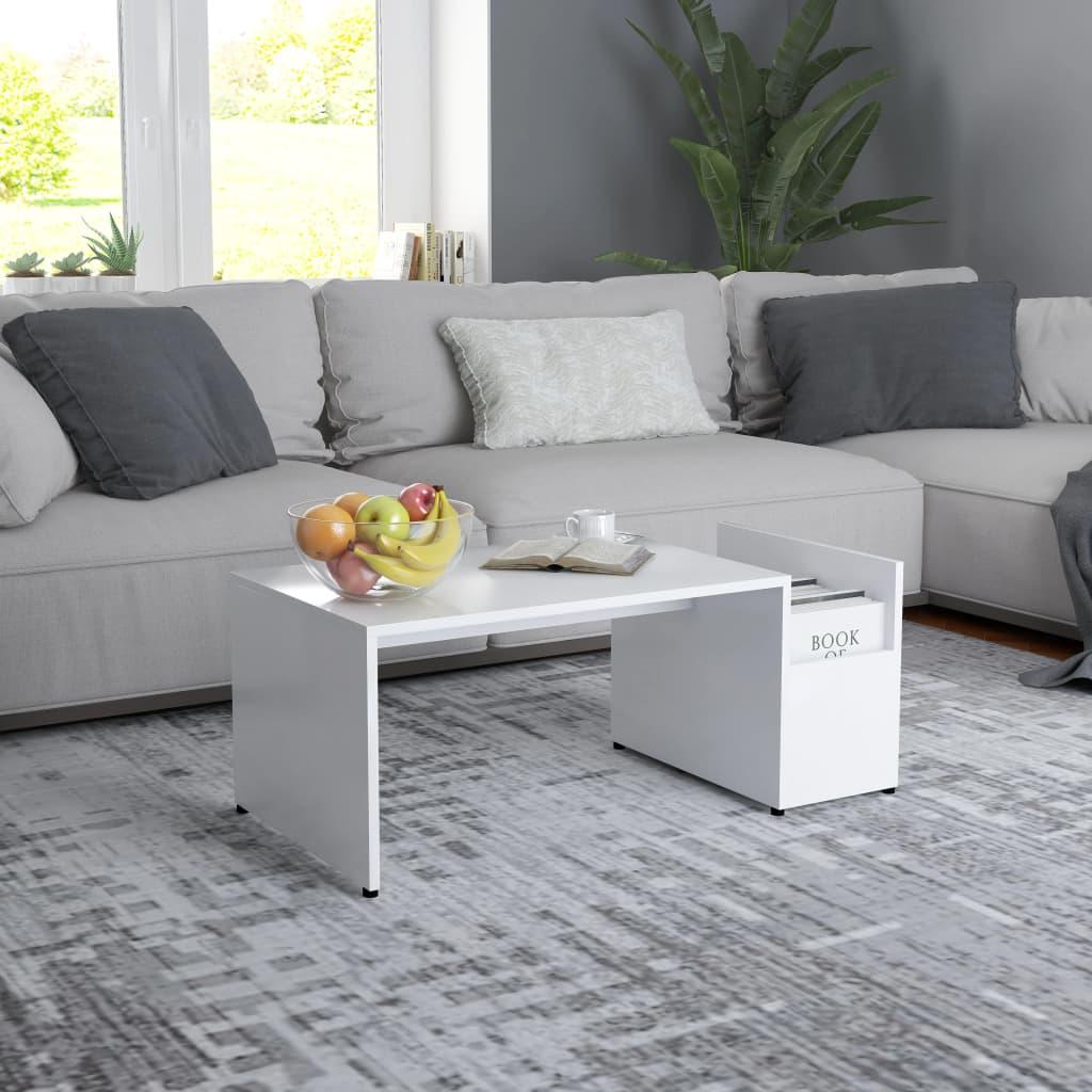 Konferenční stolek bílý 90 x 45 x 35 cm dřevotříska